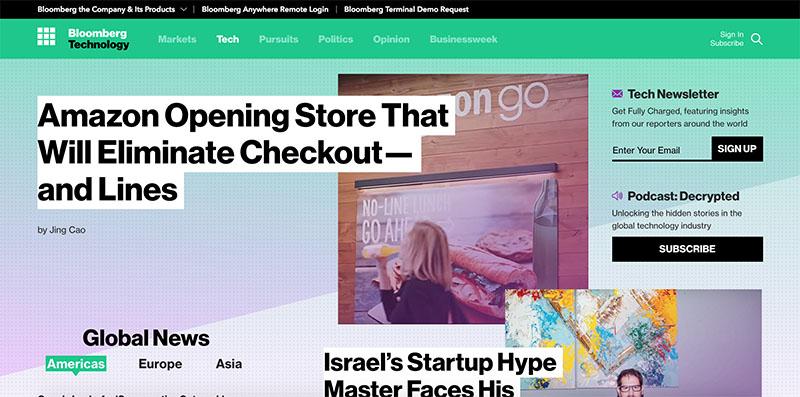 Screenshot of Bloomberg Businessweek