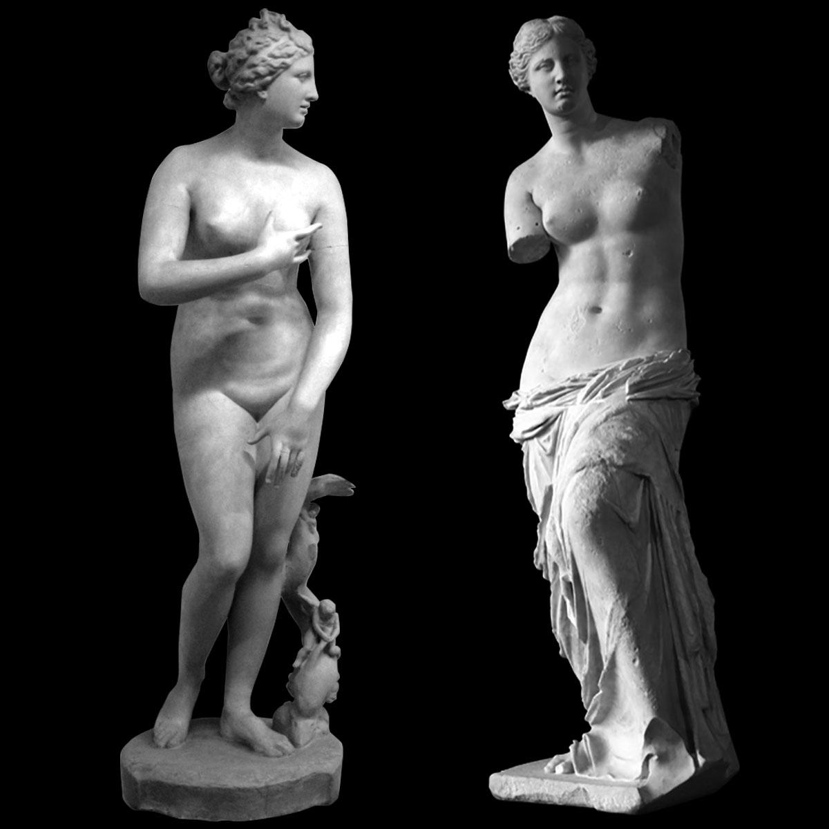 Venus de Medici & Venus de Milo
